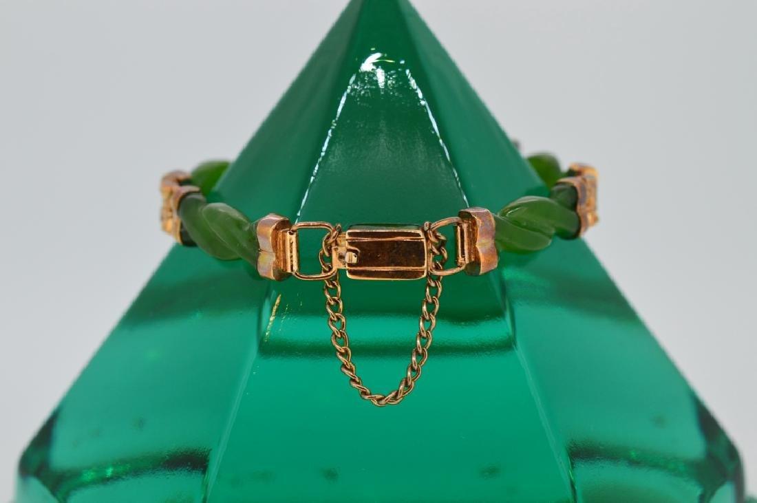 "6"" Twisted Jade Bracelet - 3"