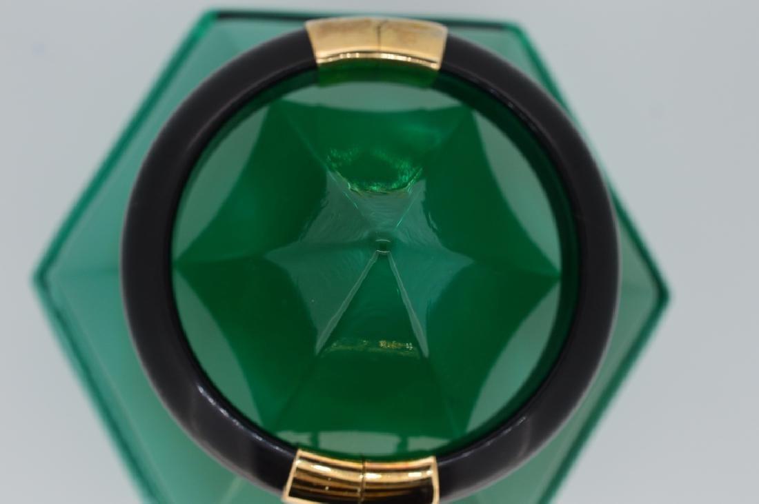 Bold Black Stone Bangle Bracelet - 2