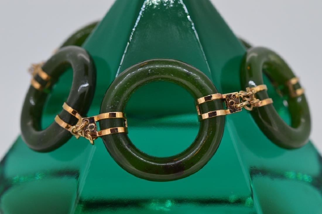 "7"" Jade Circle Link Bracelet"