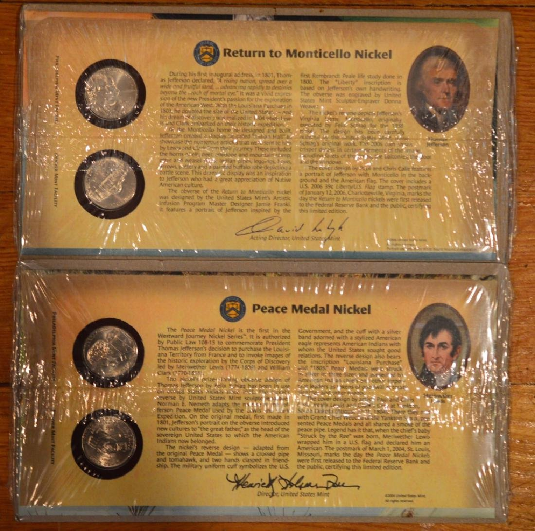 US Mint Commemorative Nickel Covers- Lot of 2