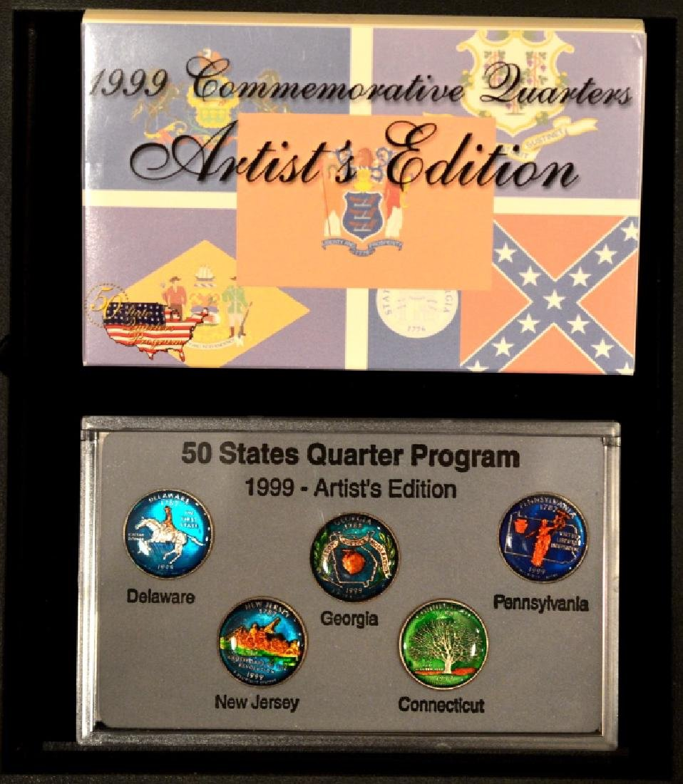 1999 Commemorative Quarter Artists Edition Lot 2