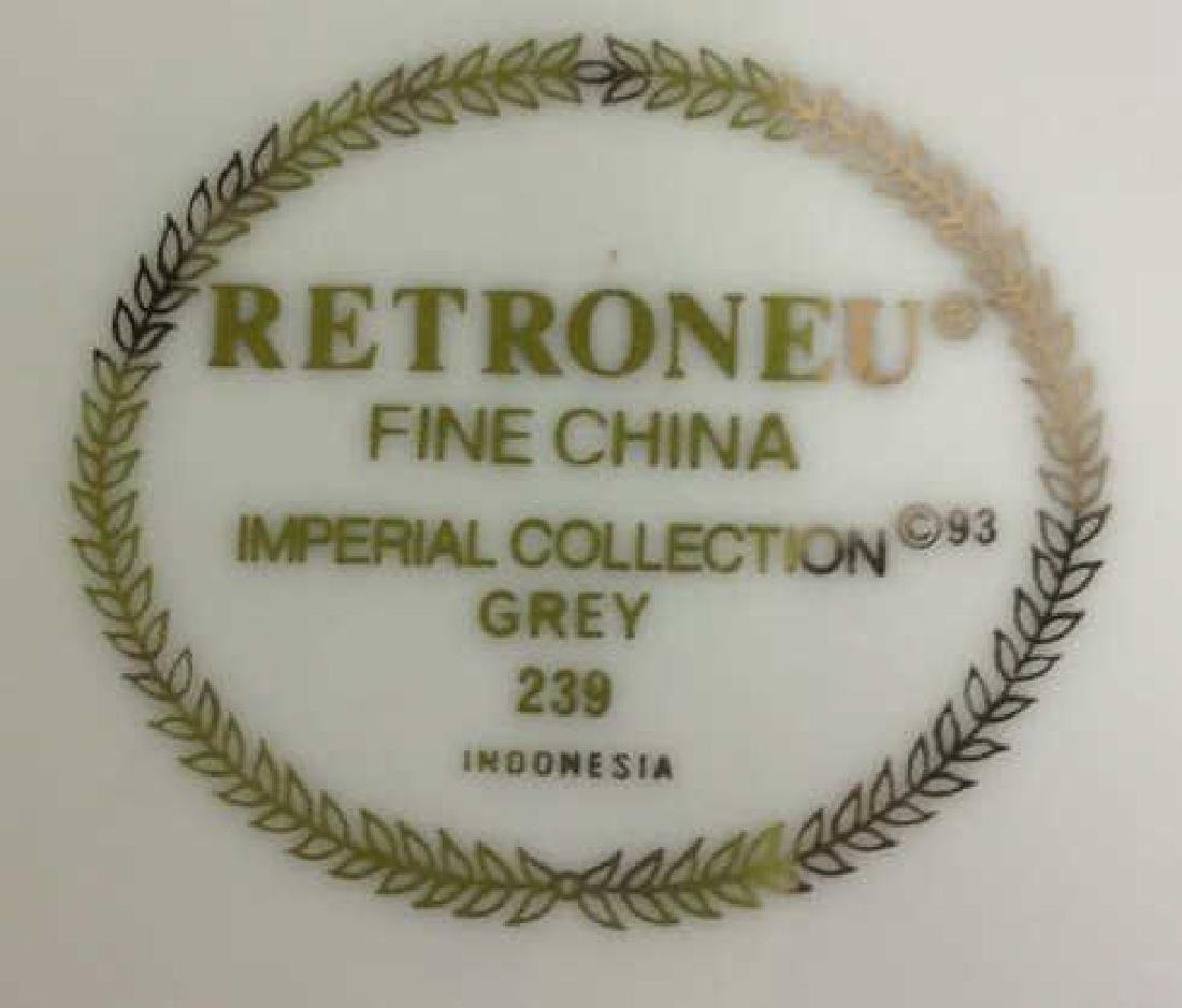 Retroneu Fine China Imperial Collection Grey 2 round - 4