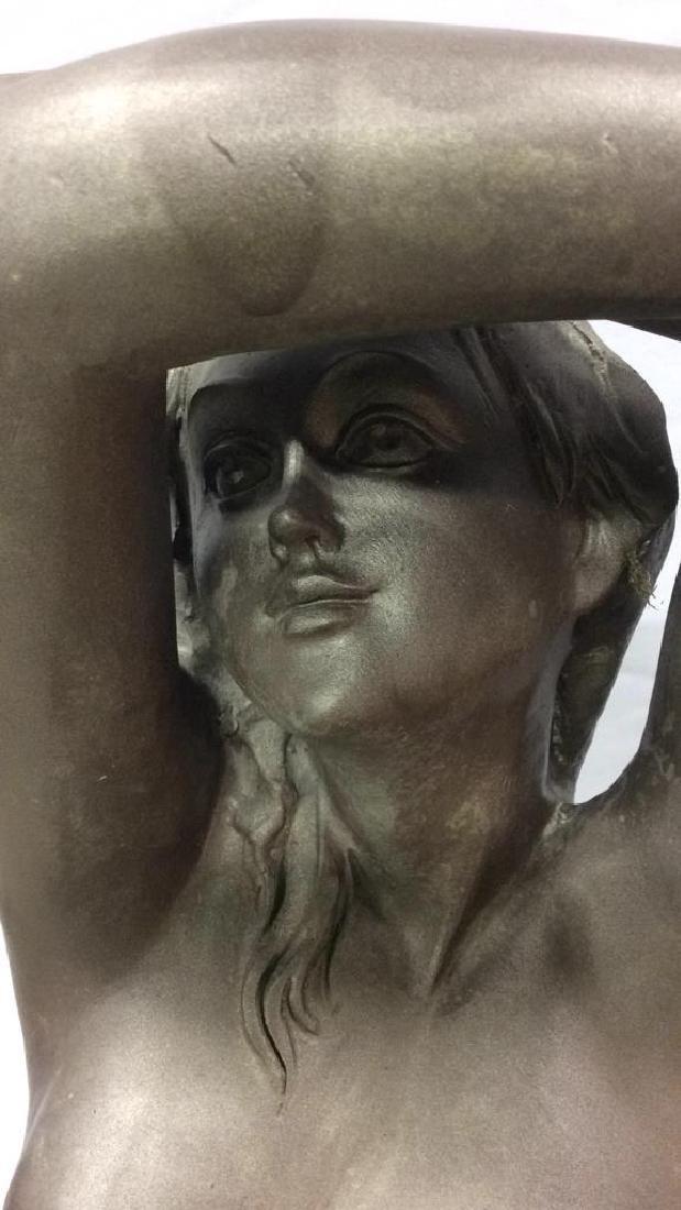 Antique Metal Garden Statue Nude Female Figure Antique - 10