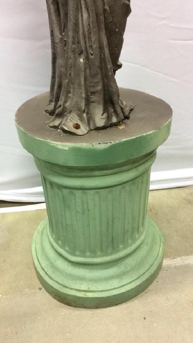 Antique Metal Garden Statue Nude Female Figure Antique - 6