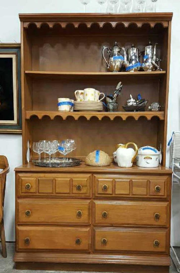 Maple Hutch Display and Storage Maple Hutch Display and