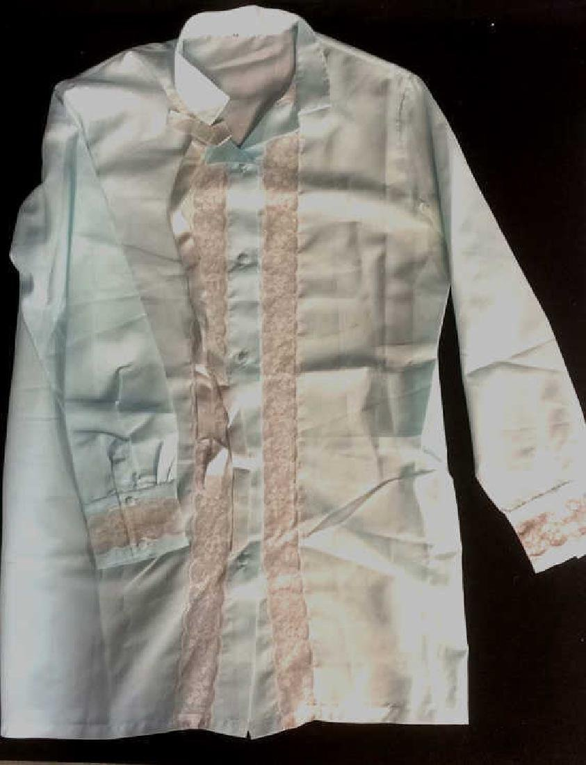 Women's Pale Blue Silk and Lace Pajamas Silk and Lace - 2