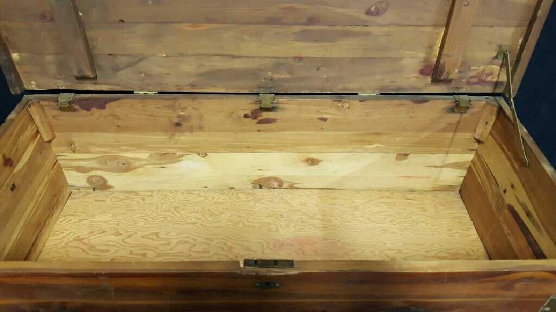 Antique Wood Lidded StorageChest Antique Wood Chest, - 7