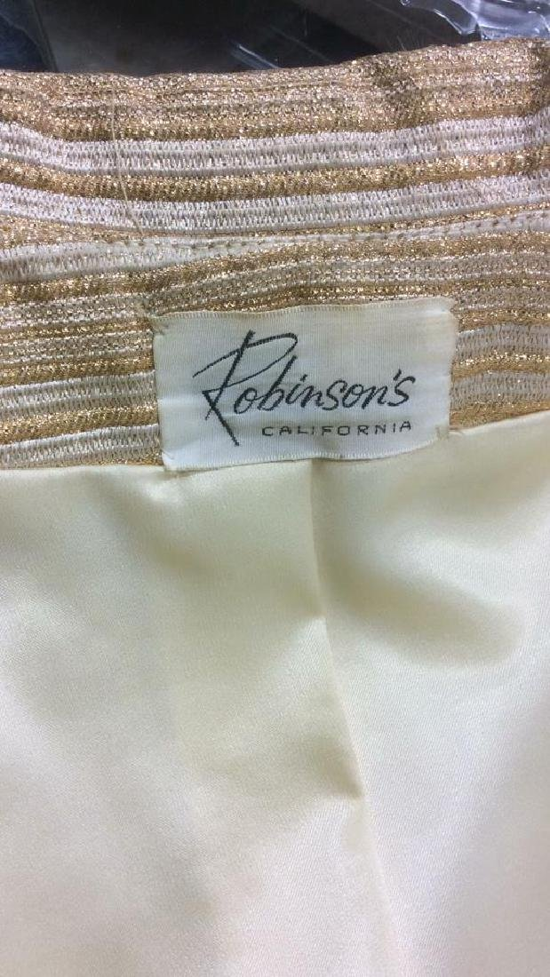 Vintage Ladies Gold Dress w Coat Labeled for Robinson's - 9