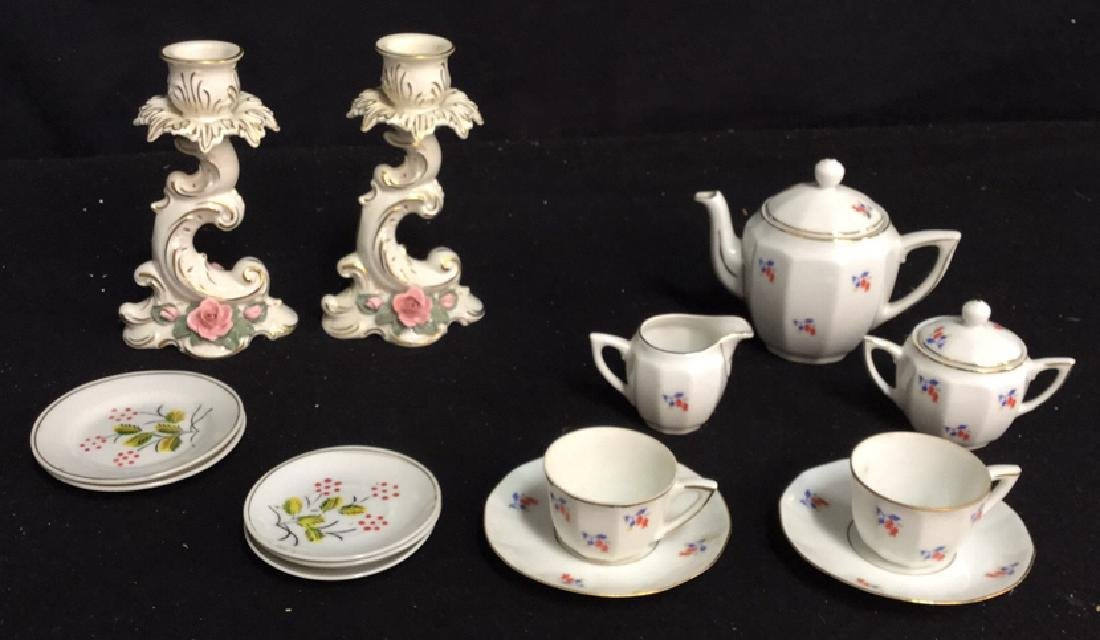Pair of Alka Porcelain Candlestick Holders & More 2