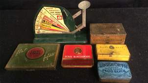 Antique Tins and Egg Scale Antique Egg Scale in painted