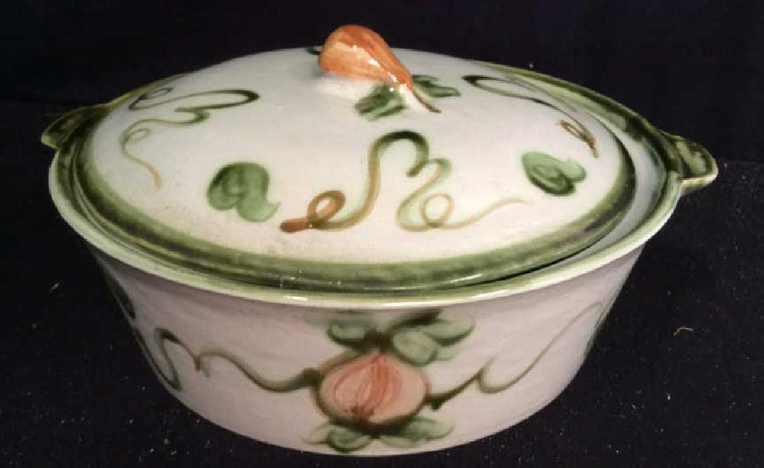 Centerpiece Hand painted Signed Ceramic Bowl Hand