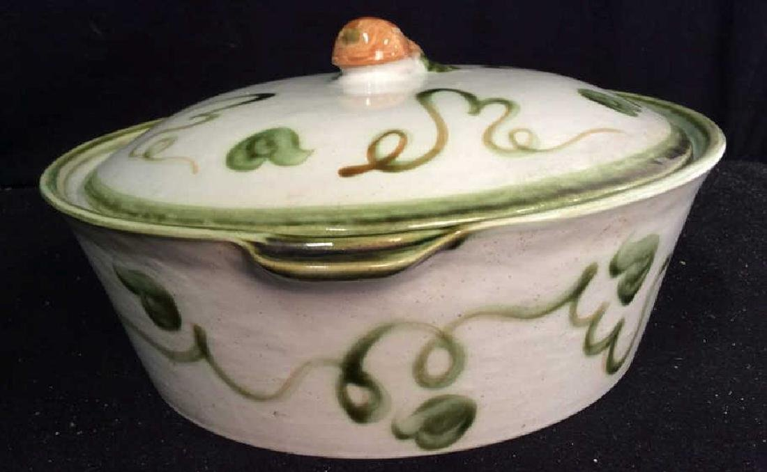 Centerpiece Hand painted Signed Ceramic Bowl Hand - 3
