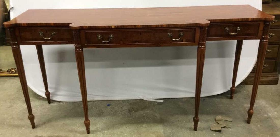Antique Inlaid Dining Side Board Antique Side Board, - 2