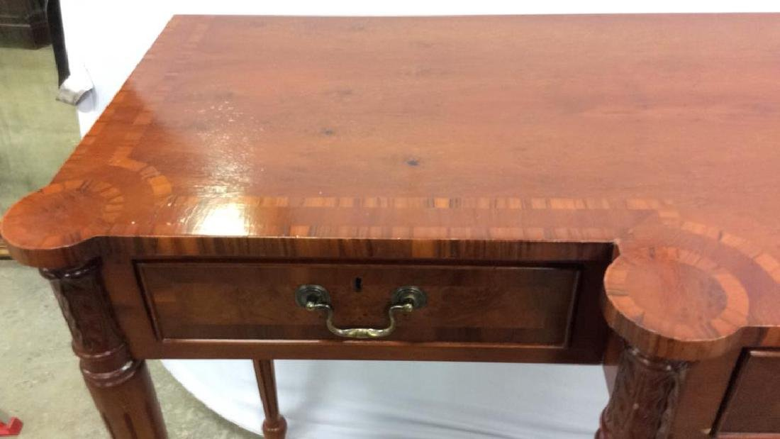 Antique Inlaid Dining Side Board Antique Side Board, - 4