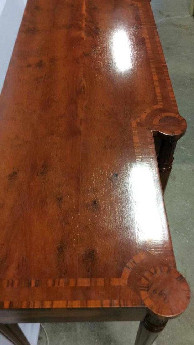 Antique Inlaid Dining Side Board Antique Side Board, - 6