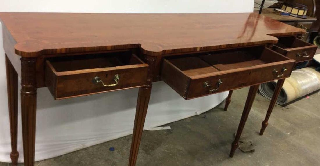 Antique Inlaid Dining Side Board Antique Side Board, - 8