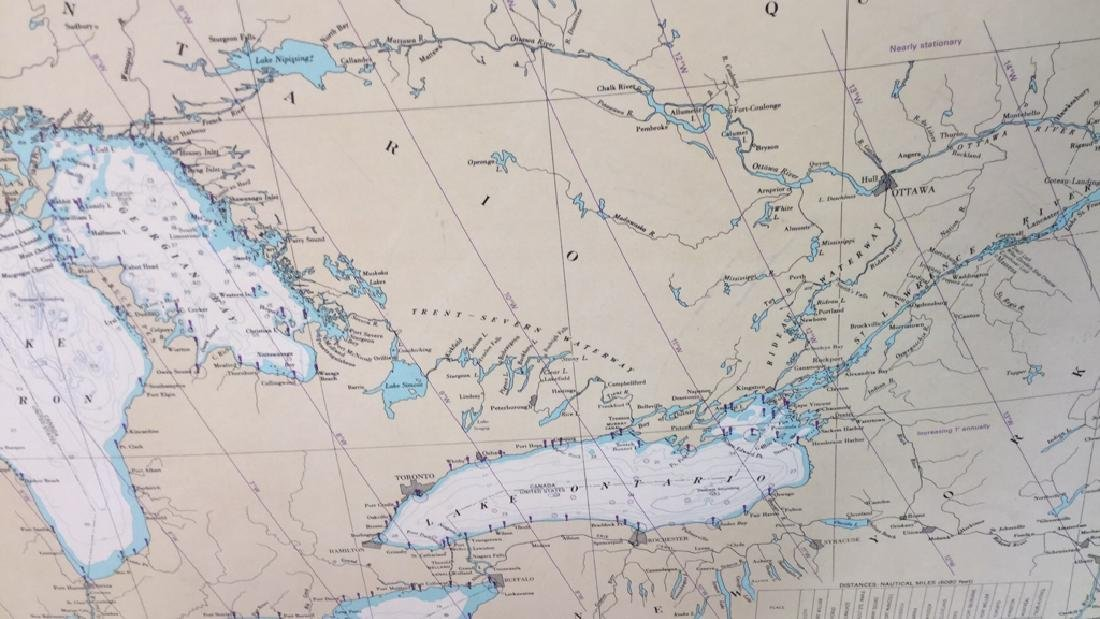 Framed Map Of The Great Lakes General Chart Of The - 8