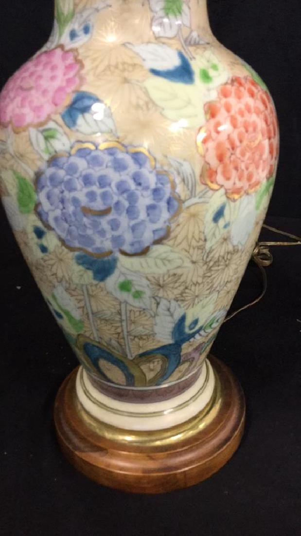 Hand Painted Asian Vase Table Lamp Urn shaped vase - 4