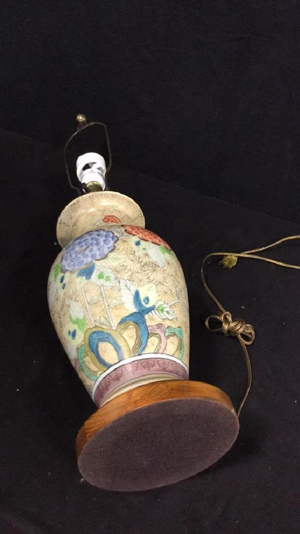 Hand Painted Asian Vase Table Lamp Urn shaped vase - 5