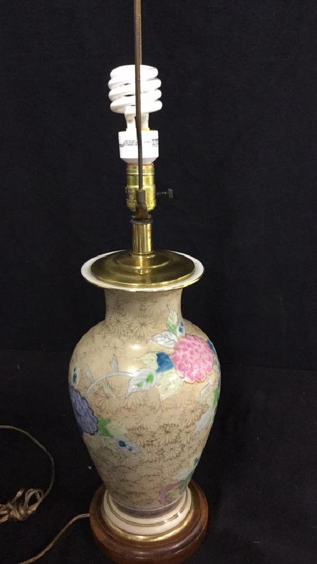 Hand Painted Asian Vase Table Lamp Urn shaped vase - 7
