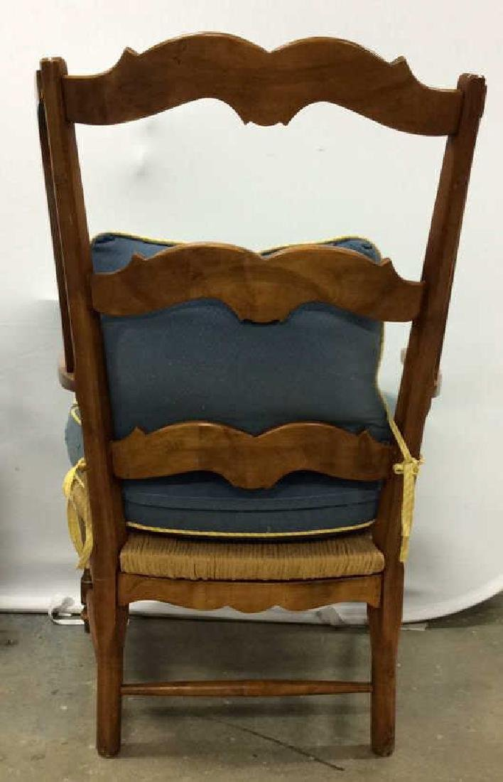 Pair Antique French Style Open Wood Wing Chairs Pair of - 4