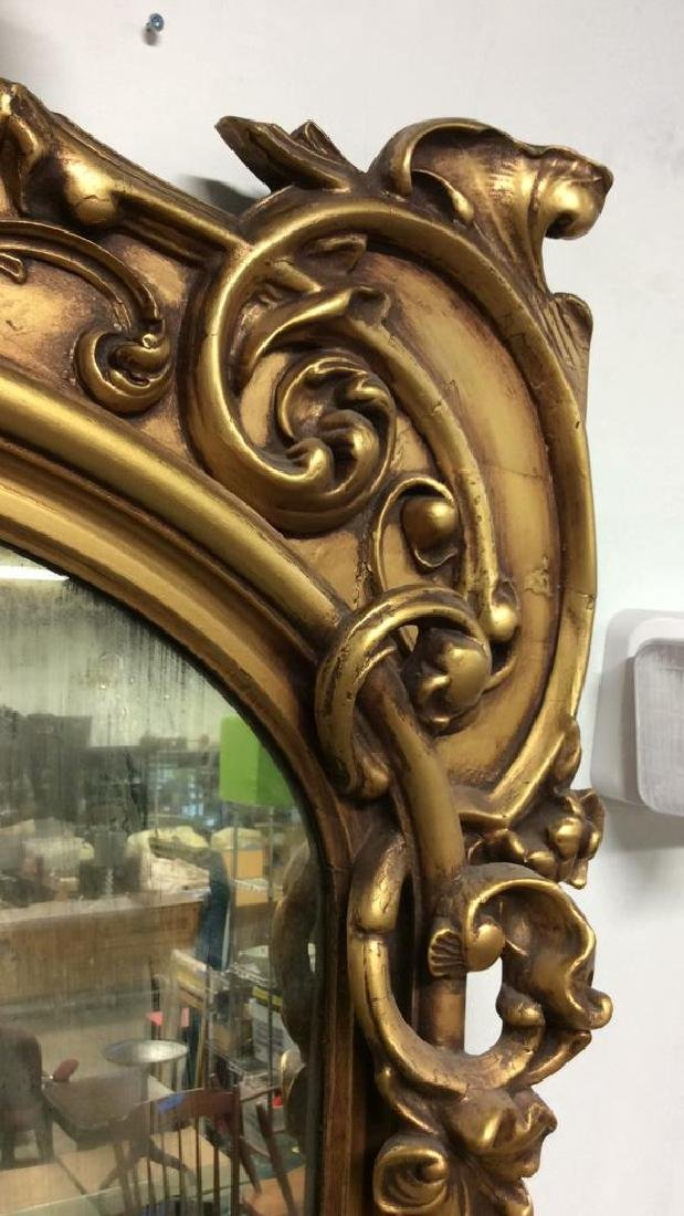 Art Nouveau Palatial Sized Mirror Hand carved Gold - 4