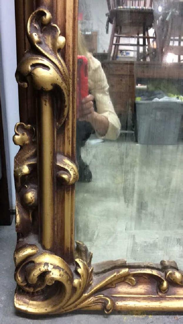 Art Nouveau Palatial Sized Mirror Hand carved Gold - 8