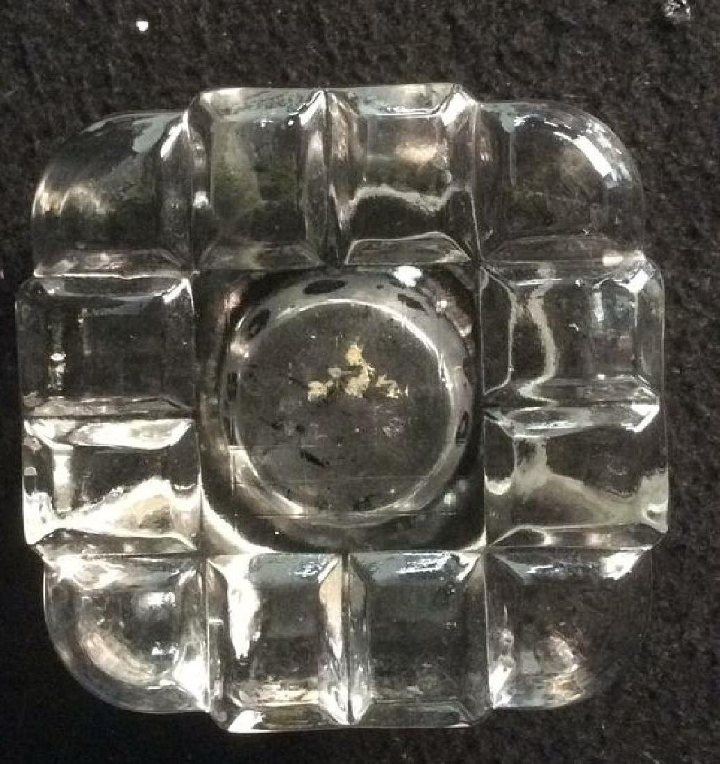 Antique Crystal Inkwell with Bronze Lid Antique Crystal - 5