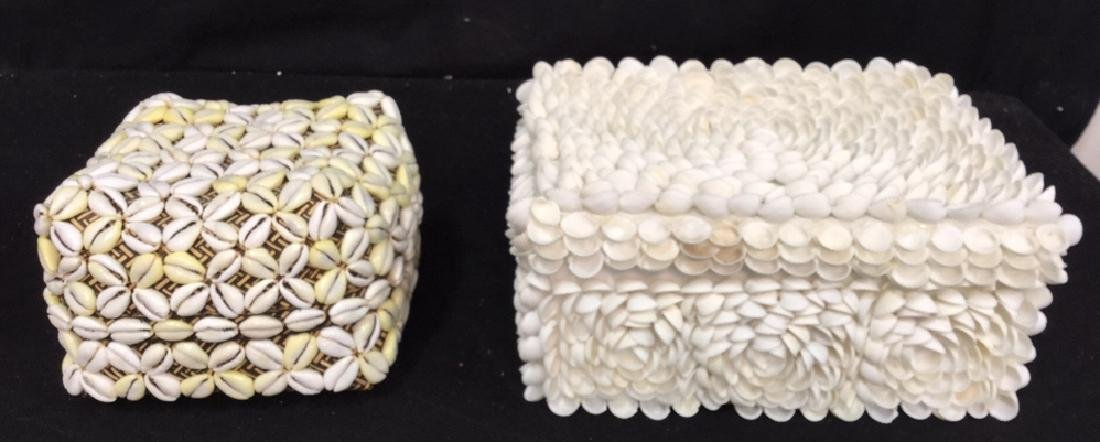 Pair Of Decorative Seashell Boxes 2 decorative boxes