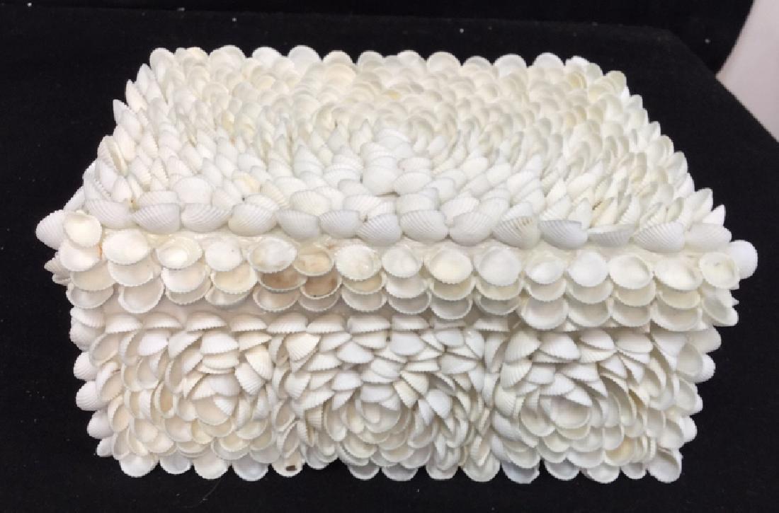 Pair Of Decorative Seashell Boxes 2 decorative boxes - 2