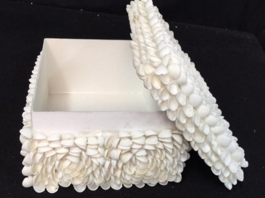 Pair Of Decorative Seashell Boxes 2 decorative boxes - 6