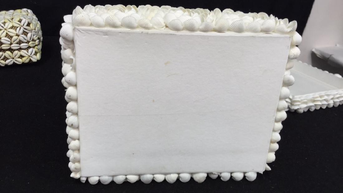 Pair Of Decorative Seashell Boxes 2 decorative boxes - 7