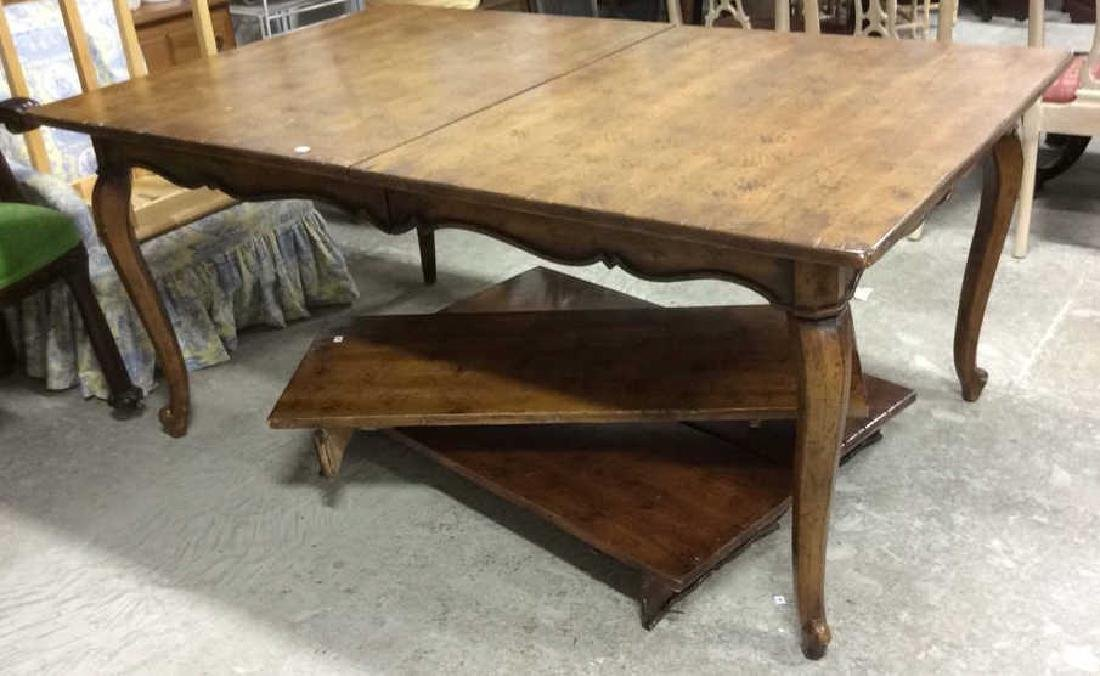 Henredon Country Style Walnut Dining Table Labeled for