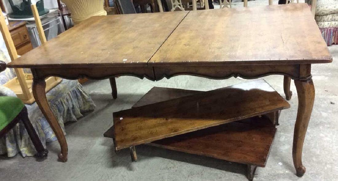Henredon Country Style Walnut Dining Table Labeled for - 2