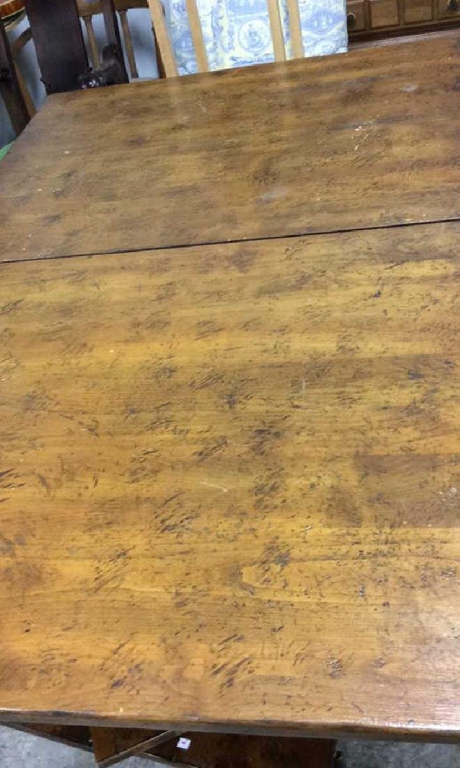 Henredon Country Style Walnut Dining Table Labeled for - 6