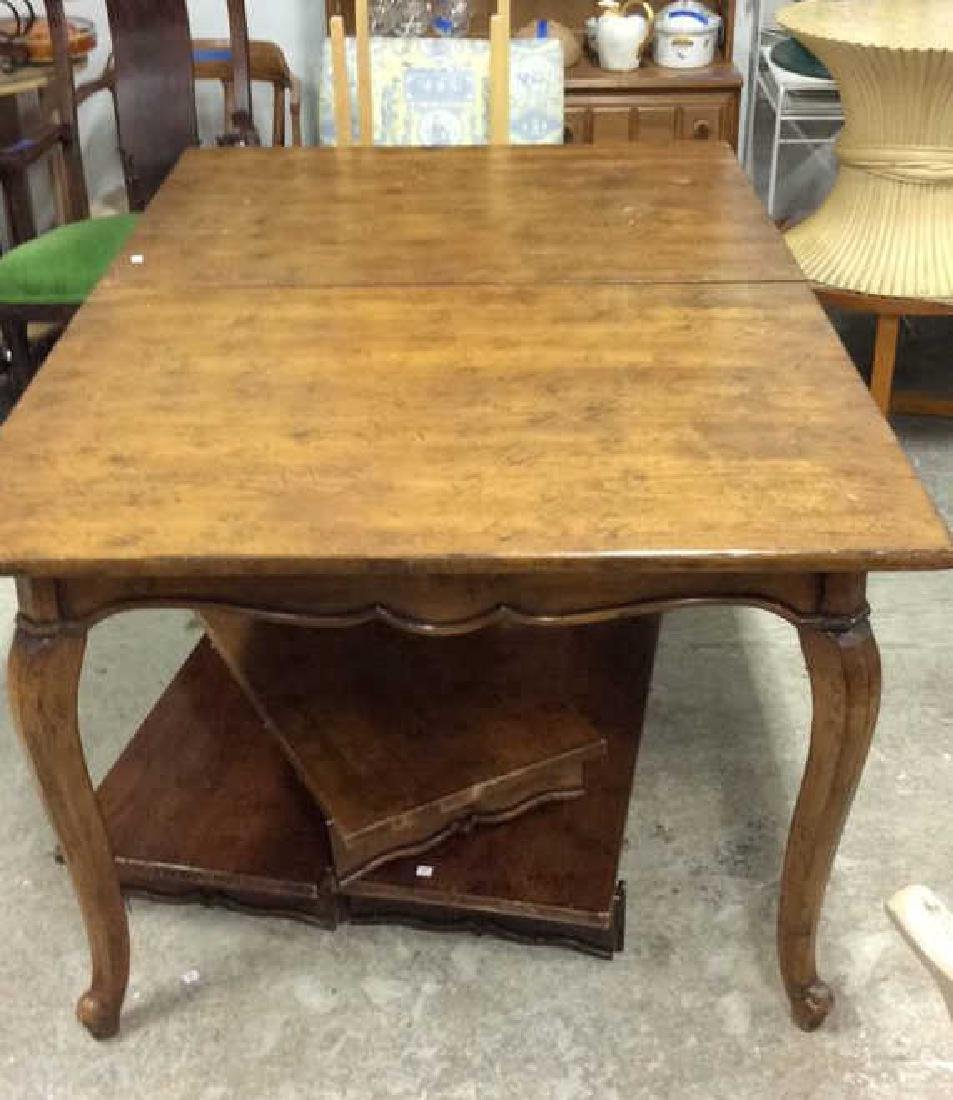 Henredon Country Style Walnut Dining Table Labeled for - 9