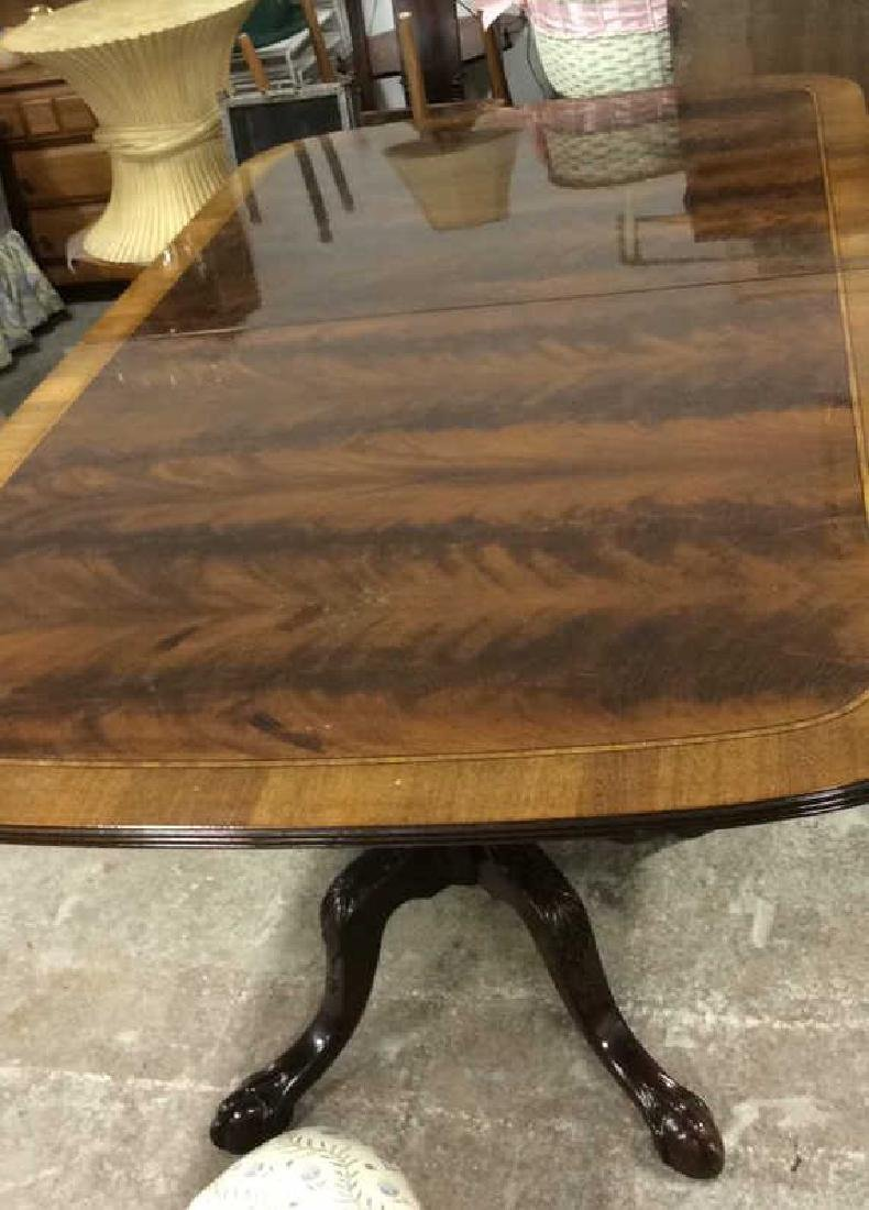 Double Pedestal Mahogany Walnut Dining Table Comes with - 5