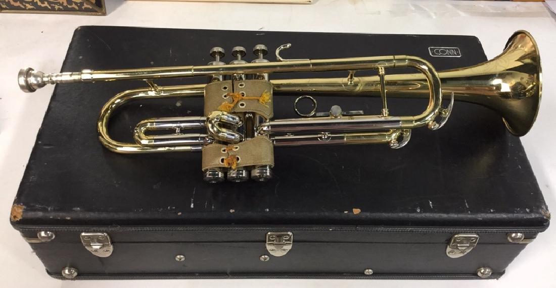 Brass Conn Trumpet With Case Brass trumpet from Conn