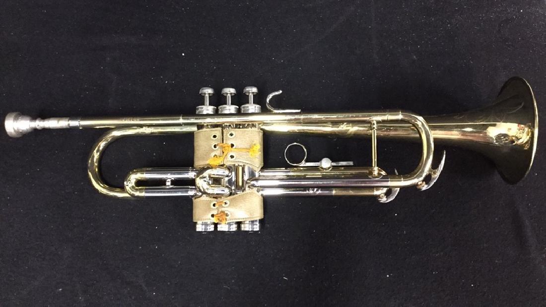 Brass Conn Trumpet With Case Brass trumpet from Conn - 2