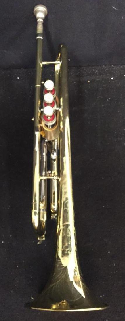 Brass Conn Trumpet With Case Brass trumpet from Conn - 5