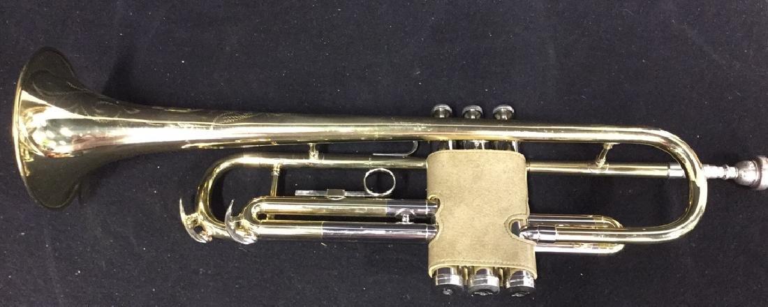 Brass Conn Trumpet With Case Brass trumpet from Conn - 9