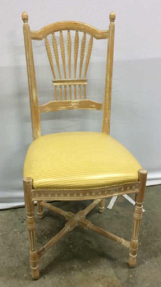 Set 6 Wheat backed pickled Oak finish Side chairs Set 6 - 2