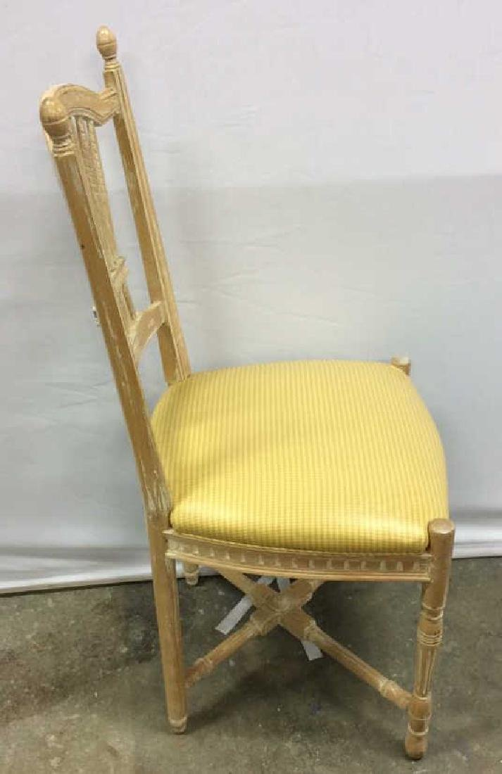 Set 6 Wheat backed pickled Oak finish Side chairs Set 6 - 5