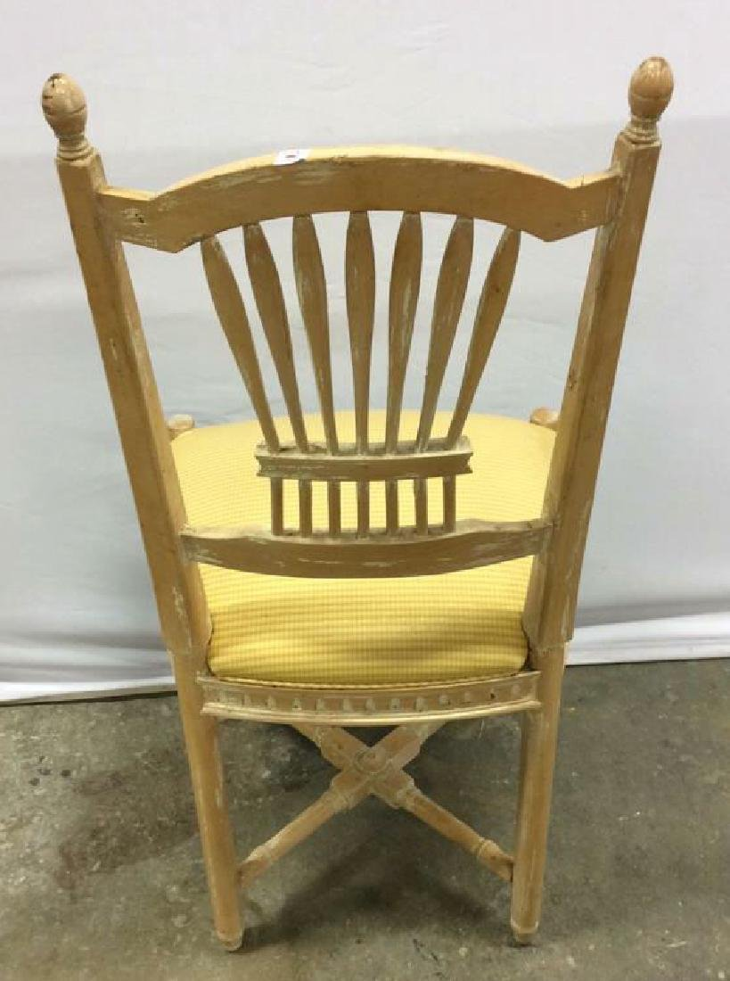 Set 6 Wheat backed pickled Oak finish Side chairs Set 6 - 6