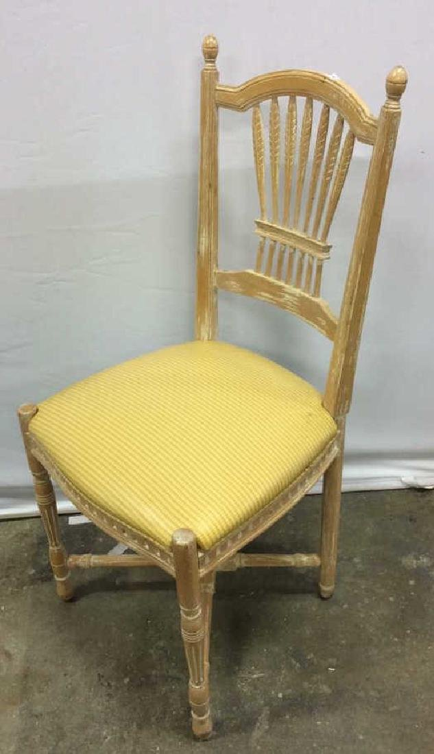 Set 6 Wheat backed pickled Oak finish Side chairs Set 6 - 8