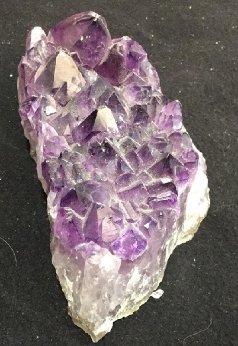 Amethyst Crystal Geode Cluster One piece of genuine - 4