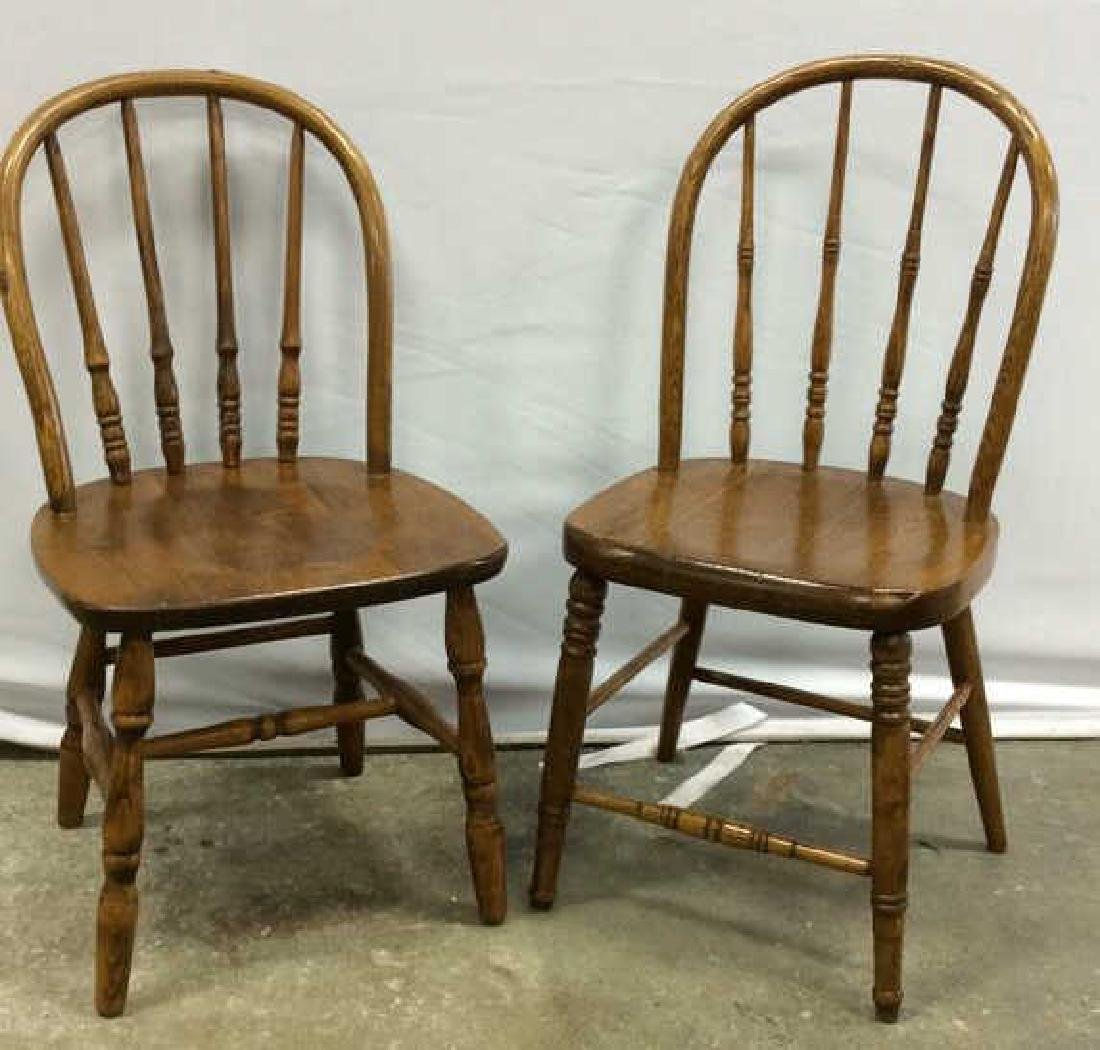 Pair Children's Windsor Style Chairs Pair of vintage