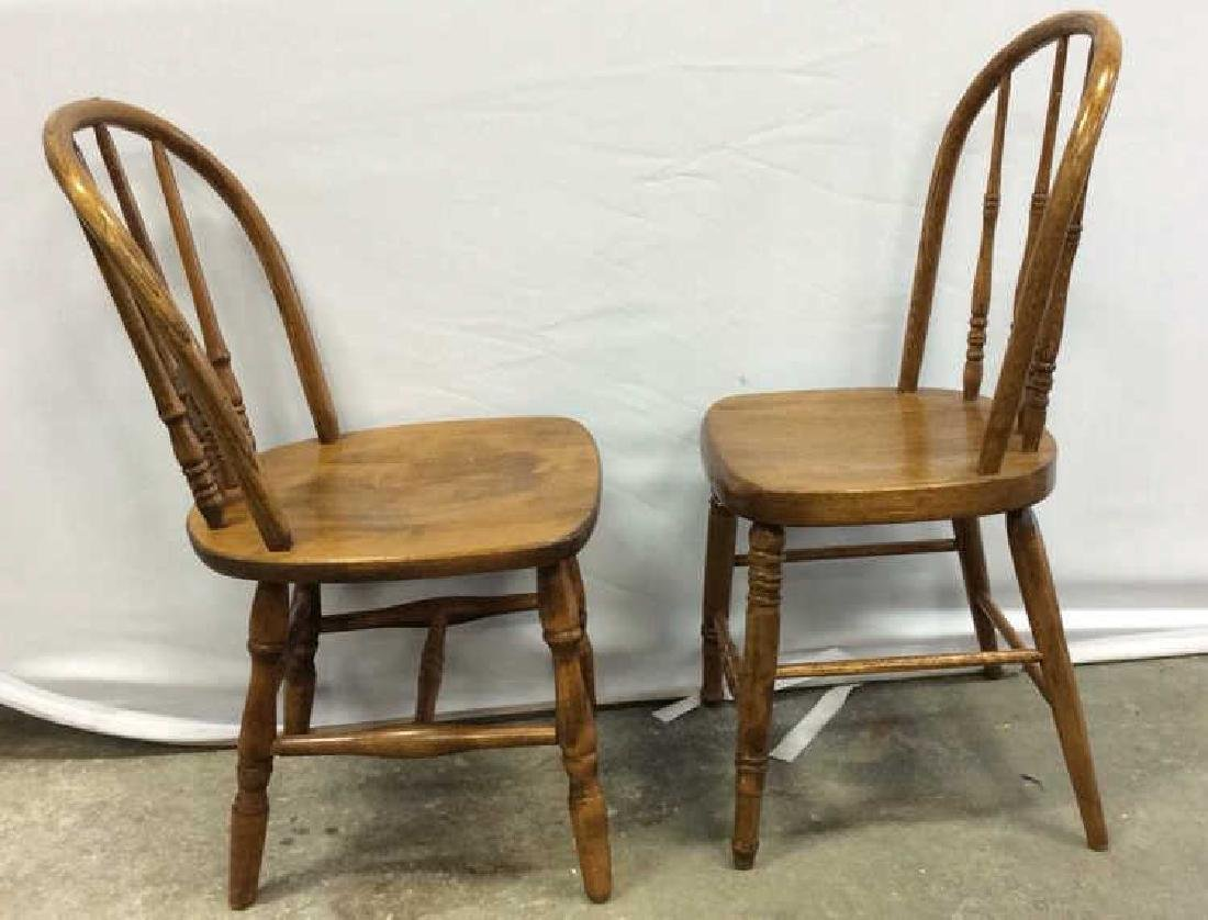 Pair Children's Windsor Style Chairs Pair of vintage - 2