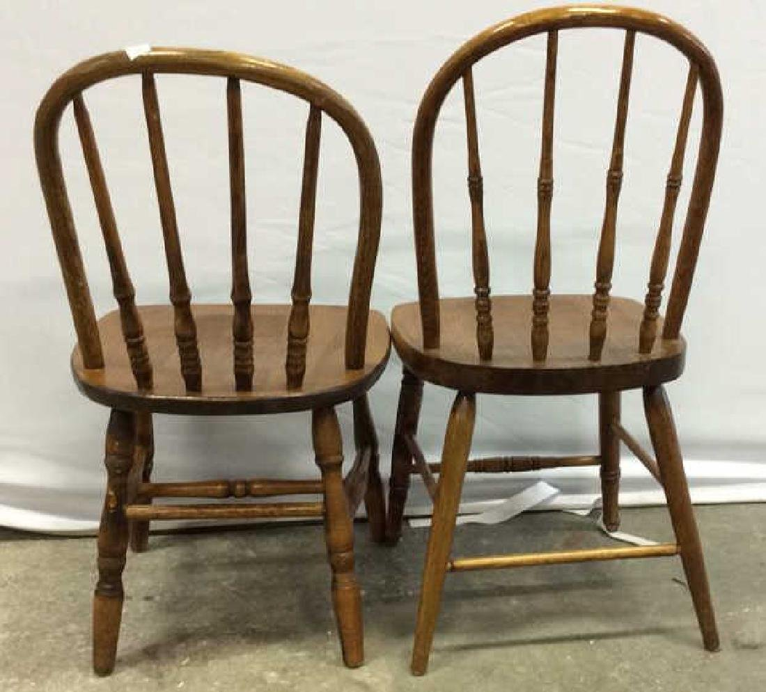 Pair Children's Windsor Style Chairs Pair of vintage - 3