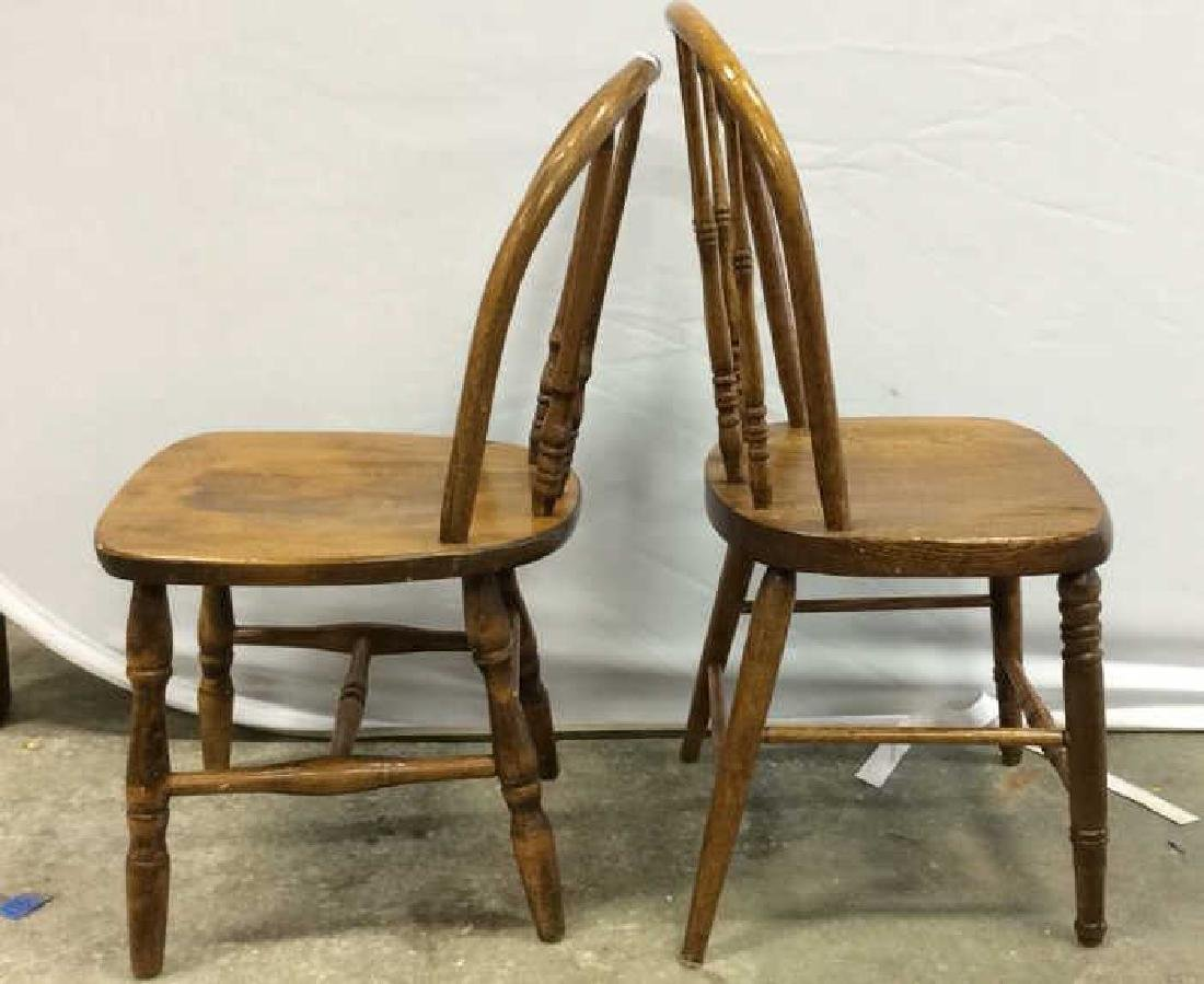 Pair Children's Windsor Style Chairs Pair of vintage - 4